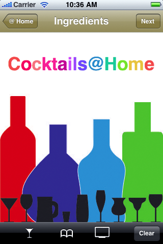 Cocktails@Home Splash Screen